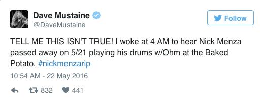 Dave Mustaine Tweet