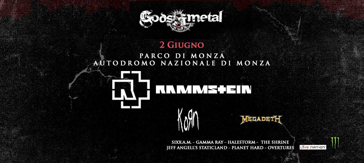 Gods Of Metal 2016 Locandina