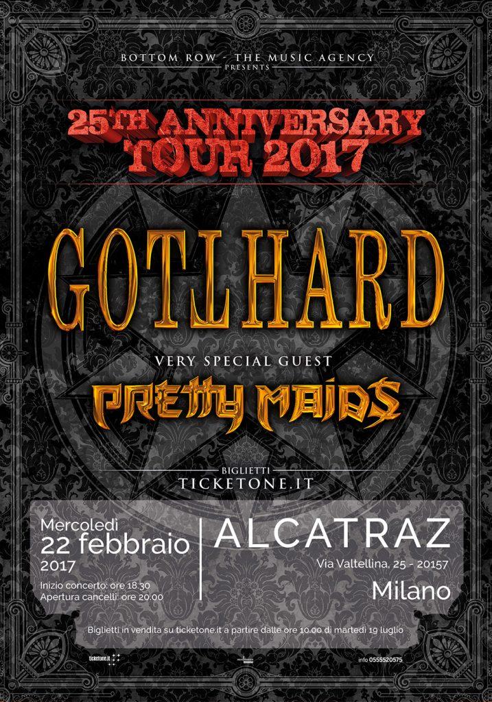 GOTTHARD + Pretty Maids locandina 2017