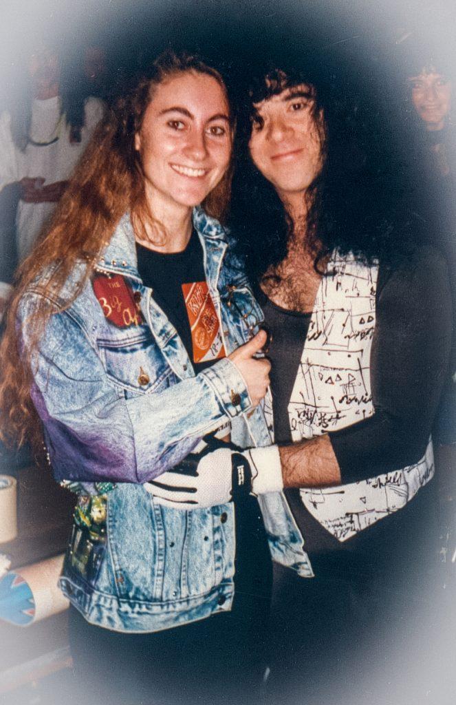 Eric Carr con Barbara Caserta, USA 1990