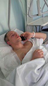 L'agente ferito questa notte Christian Movio, in ospedale