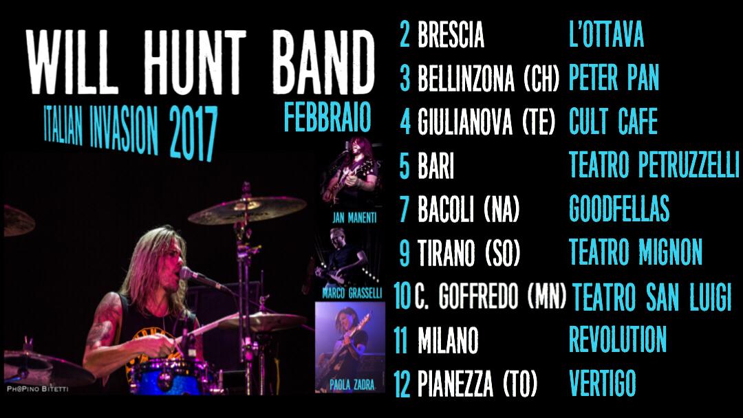 Will Hunt Band Italian Invasion 2017 Banner 2